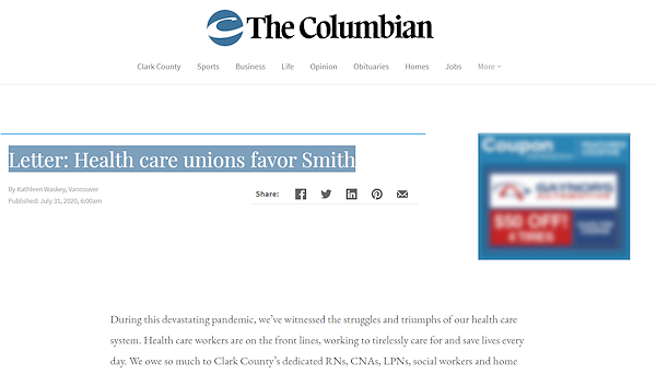 Letter to the Editor in support of Daniel Smith